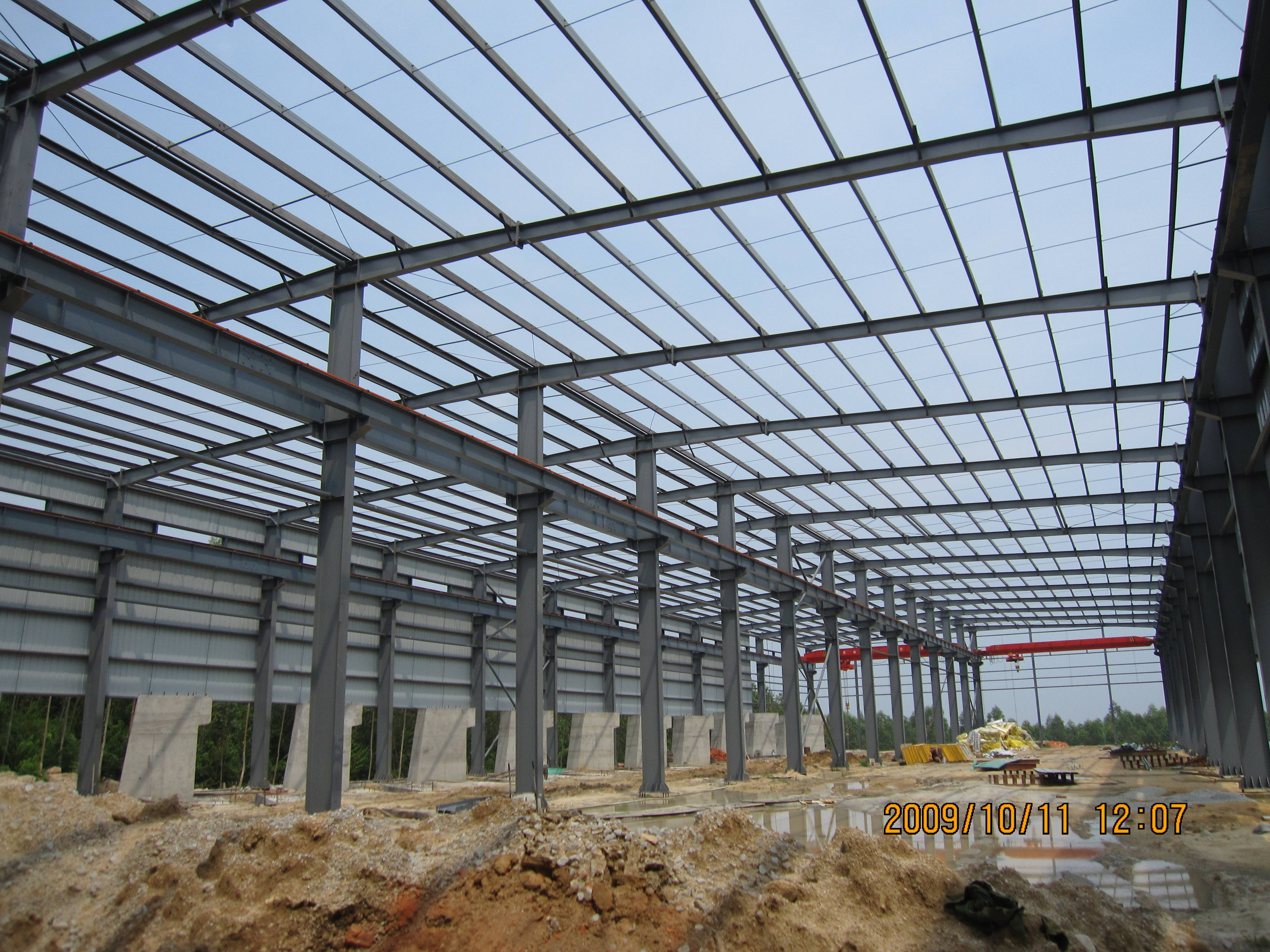 The composition of steel structure workshop