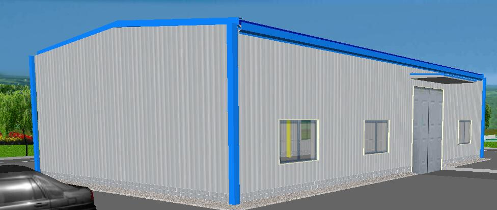 Installation method for single storey workshop